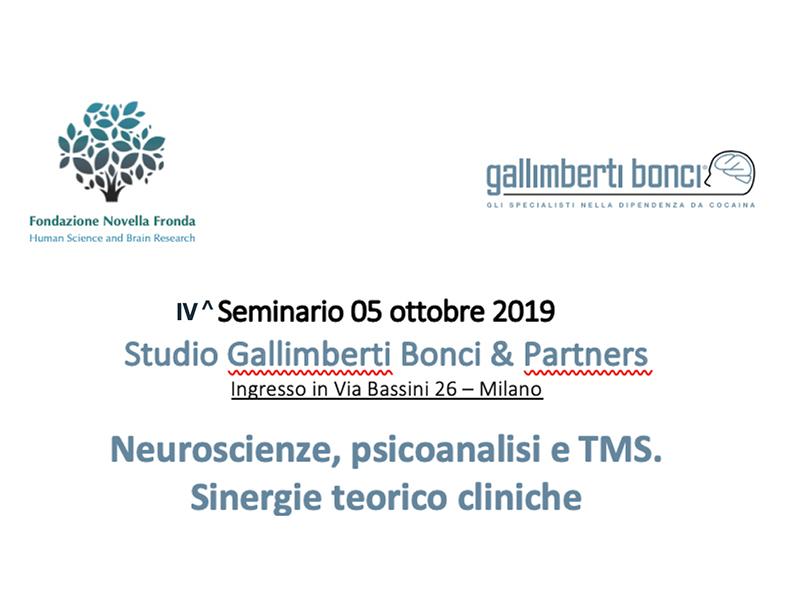 4° SEMINARIO ANNUALE ORGANIZZATO DALLA FONDAZIONE IN COLLABORAZIPNE CON LO STUDIO GALLIMBERTI&PARTNERS